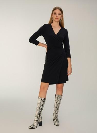 NGSTYLE Anvelop Örme Elbise Siyah